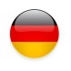 Glossy German flag vector icons. Round and square shiny icons with national flag of Germany.