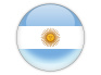 Round icon with flag of argentina isolated on white